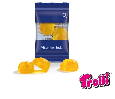 """Fruchtgummi Duo """"Vitamin"""" im bedruckbaren Flowpack - Produktbild"""