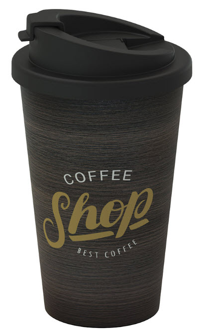 Kaffebecher schwarz