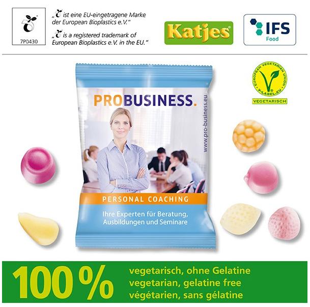 Katjes Joghurt-Gums in kompostierbarem Werbetütchen - Produktbild