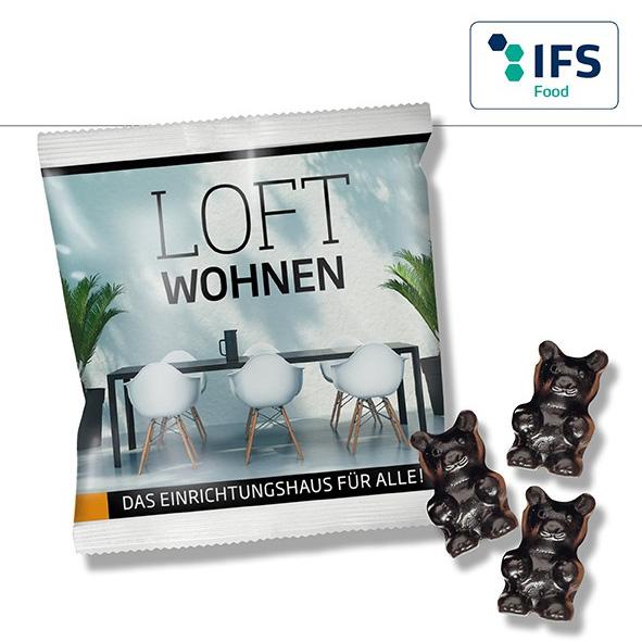 Lakritz Gummibärchen in Werbetüten - Produktbild