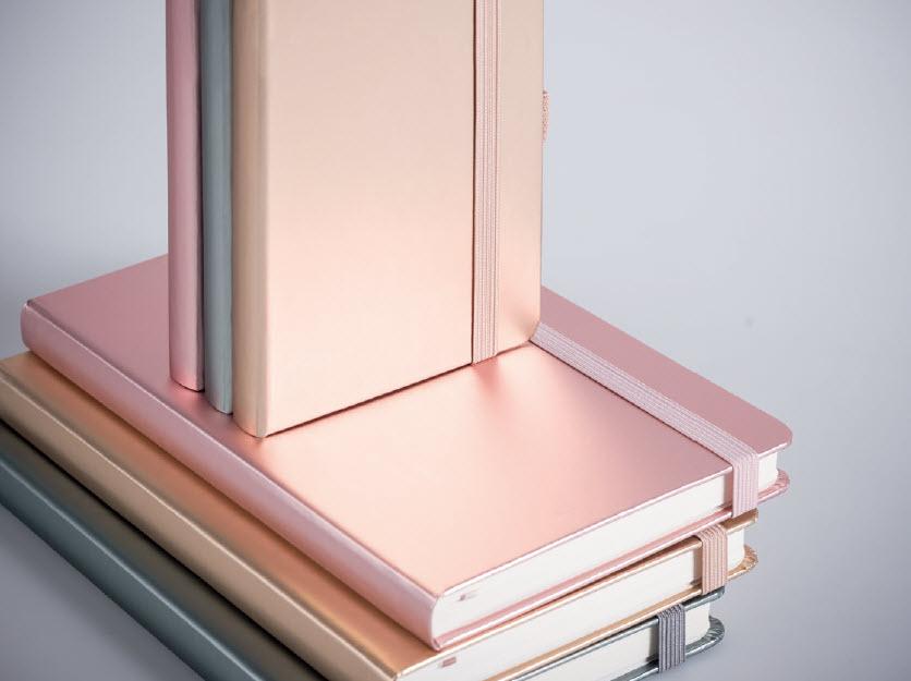 """Notizbuch in der Trendfarbe """"Metallic"""" - Produktbild"""