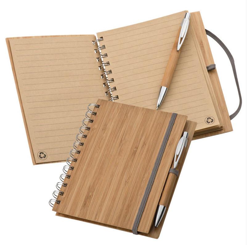 Notizbuch mit Bambuscover - Produktbild
