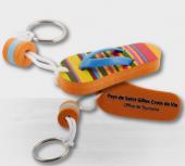 Sportschuh-Schlüsselanhänger Flip-Flop Modell