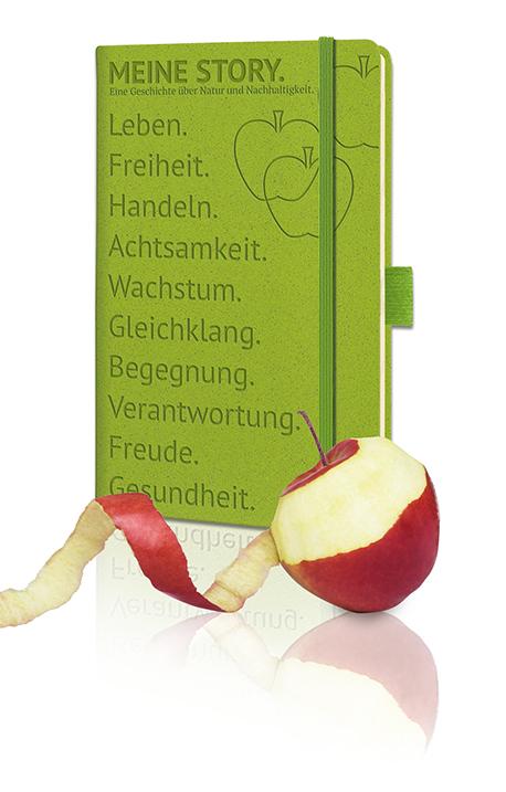 Apfelnotizbuch - Produktbild