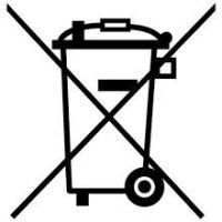 Symbol einer durchgekreuzten Mülltonne