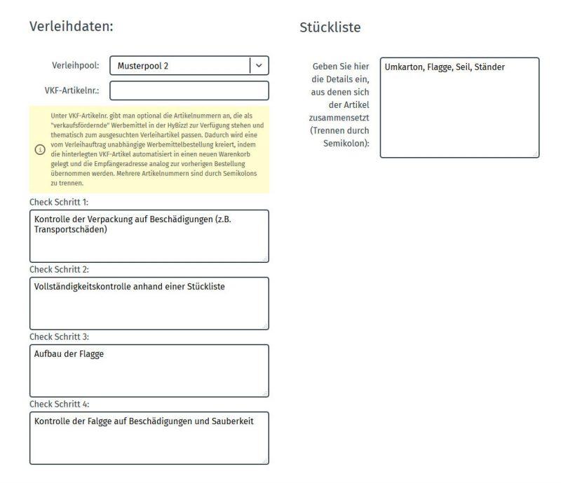 checkliste stückliste verleihtool