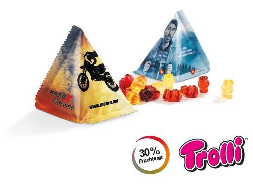 Gummibärchen in dreieckigen Tütchen - Produktbild
