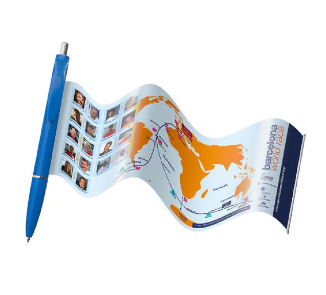 Kugelschreiber mit ausziehbarer Fahne - Produktbild