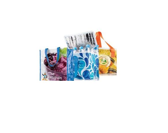 Kühltasche mit Werbedruck – wiederverwendbare Plastiktaschen - Produktbild