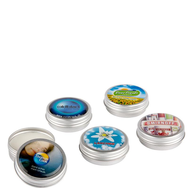 Lippenbalsam im bedruckten Döschen - Produktbild