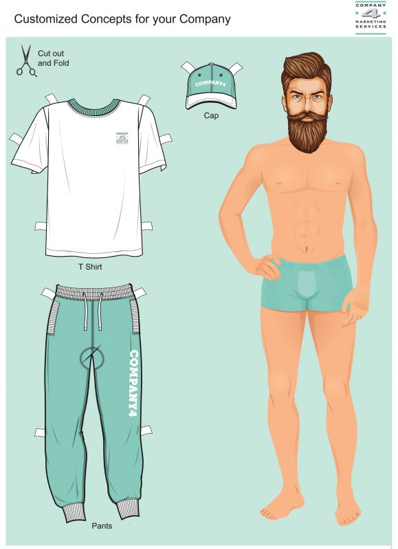 Merchandising Cap Shirt Pants