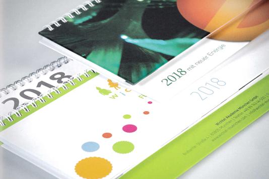 Tischkalender im Querformat - Produktbild