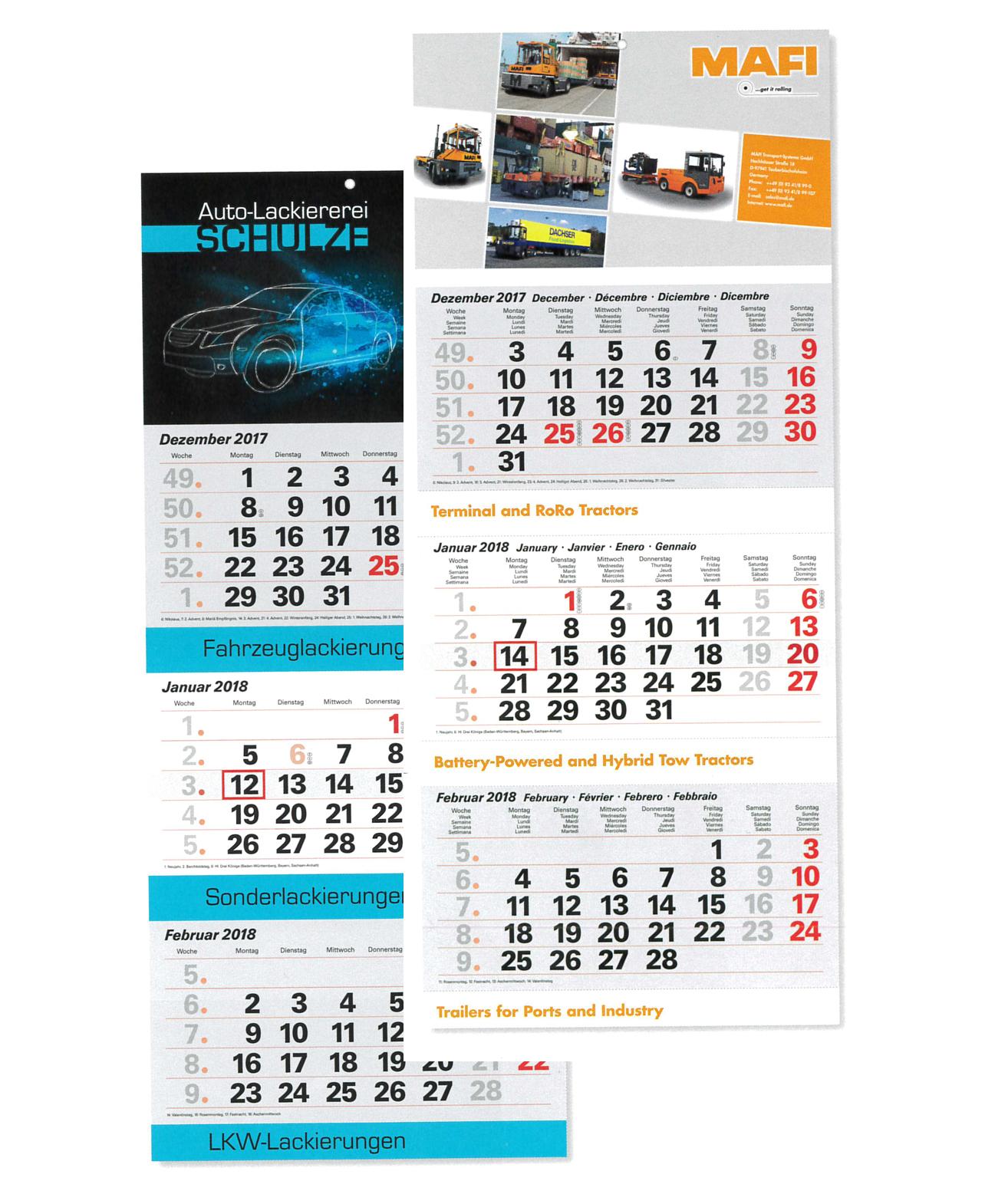 Wandkalender individuell bedrucken - Produktbild